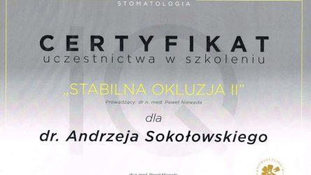 Andrzej Sokołowski Certyfikat (3)