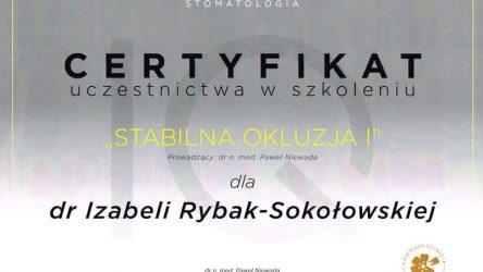 Izabela Rybak-Sokołowska certyfikat (1)