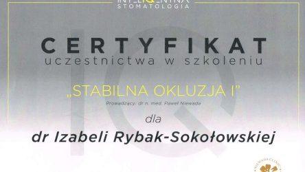 Izabela Rybak-Sokołowska certyfikat (19)