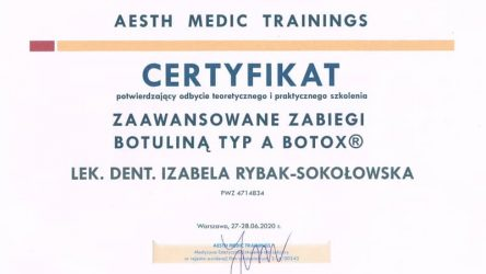 Izabela Rybak-Sokołowska - certyfikat 29061202