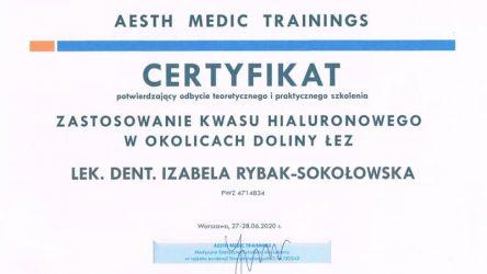 Izabela Rybak-Sokołowska - certyfikat 29061203
