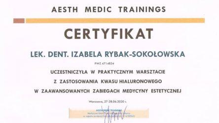 Izabela Rybak-Sokołowska - certyfikat 29061205