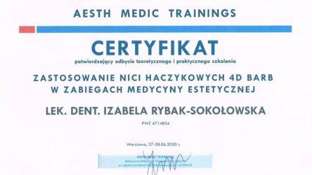 Izabela Rybak-Sokołowska - certyfikat 29061206