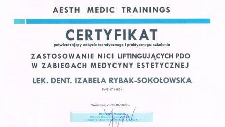 Izabela Rybak-Sokołowska - certyfikat 29061207