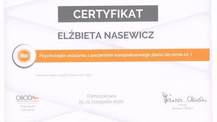 Elżbieta Nasewicz - cert1 - psychologia