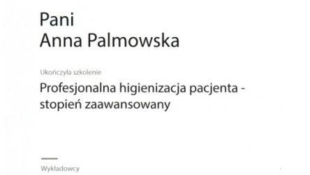 Anna Palmowska - certyfikat 201