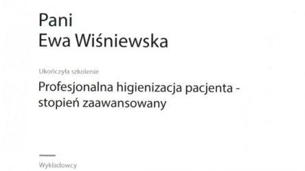 Ewa Wiśniewska - certyfikat 201