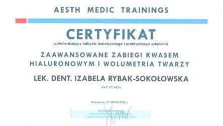 Izabela Rybak-Sokołowska - certyfikat 201