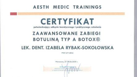 Izabela Rybak-Sokołowska - certyfikat 202